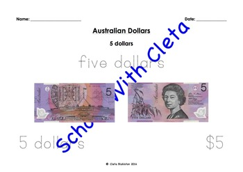 Australian Money (Dollar Notes) Their Images & Different W