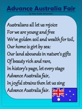 Australian National Anthem Advance Australia Fair