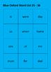 Australian Oxford Word Lists Colour Coded