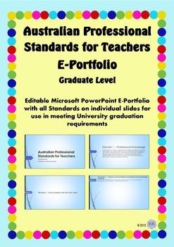 Australian Professional Standards for Teachers E Portfolio