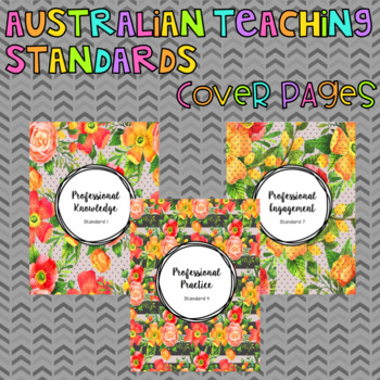 Australian Teacher Standards Portfolio Cover
