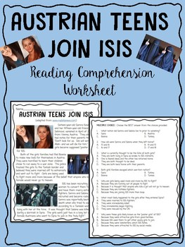 Austrian Teens Join ISIS Reading Comprehension, Terrorism,