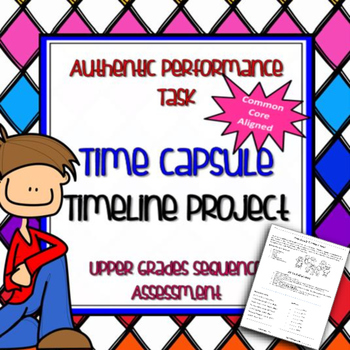Reading - Sequence Authentic Performance Task Time Capsule