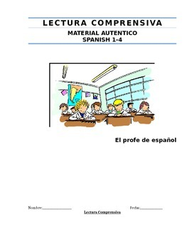 Authentic Reading Material in Spanish-Material de lectura
