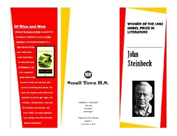 Author Brochure Example--John Steinbeck