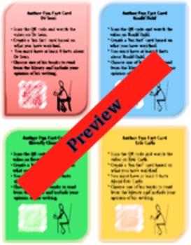 Author Fun Fact QR Code Cards