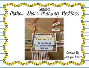 Author Share Tracking Necklace  **EDITABLE**