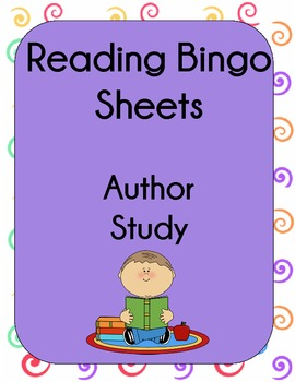 Author Study Bingo to Motivate Reading