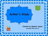 Author Study Booklet For Any Author :