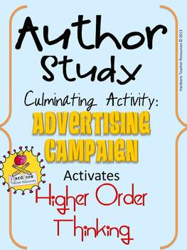 Author Study Culminating Event: Advertising Campaign {High