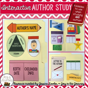 Author Study Foldables For ANY Author