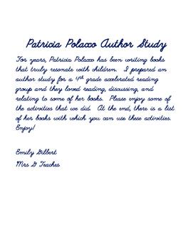 Author Study - Patricia Polacco