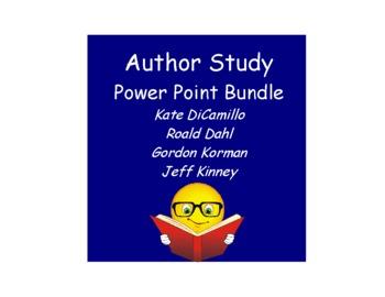 Author Study Power Point Bundle:  DiCamillo, Kinney, Dahl, Korman