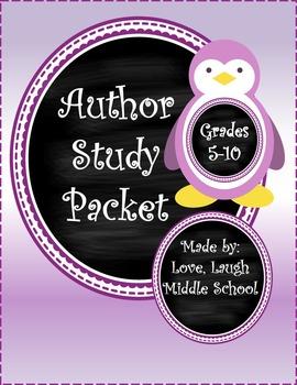 Author Study (Middel & High School) (editable)