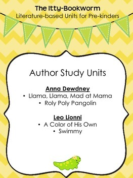 Author Study Units ~ Anna Dewdney and Leo Lionni