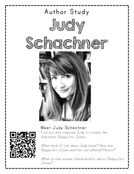 Author Study with QR Codes - Judy Schachner