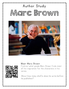 Author Study with QR Codes - Marc Brown