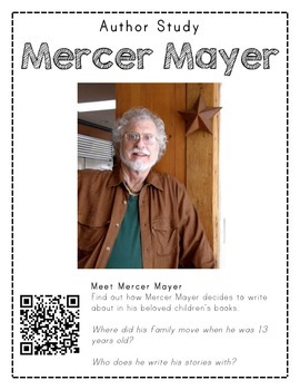 Author Study with QR Codes - Mercer Mayer