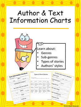 Author and Text Information Charts
