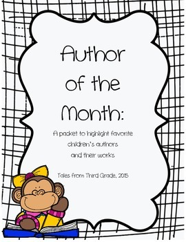 Author of the Month Poster Set and Recording Sheet