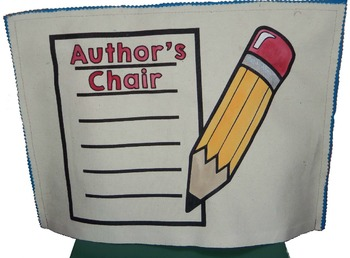 Writer's Workshop Author's Chair {Chair Cover}