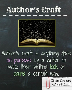 Author's Craft Poster