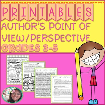 Author's Point of View (Author's Perspective) PRINTABLES: