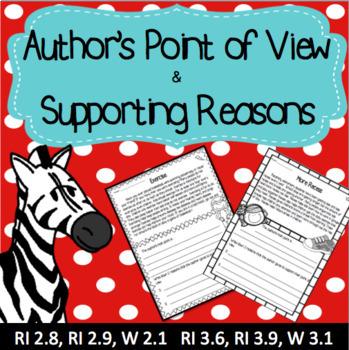 Author's Point of View - Opinion Writing RI 2.8 RI 2.9 RI