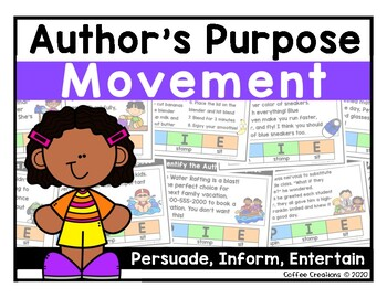 Author's Purpose Interactive Game {Grades 1 - 3}