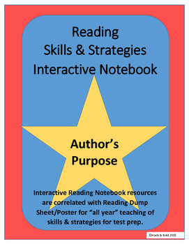 Author's Purpose Interactive Notebook for Any Story
