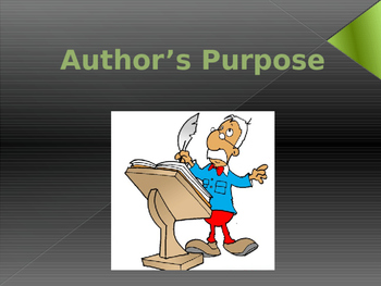 Author's Purpose Jeopardy Game