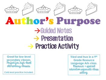 Author's Purpose Notes