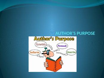 Author's Purpose PIE-ED Powerpoint