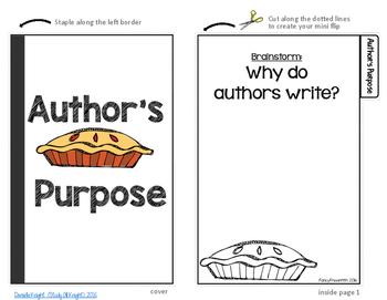 Author's Purpose PIE Mini Flipbook