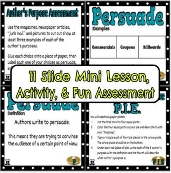 Author's Purpose PowerPoint Mini Lesson & Activity