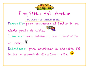 Author's Purpose Spanish