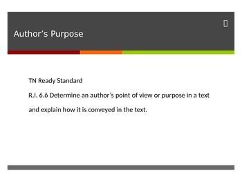 Author's Purpose TN Ready Powerpoint