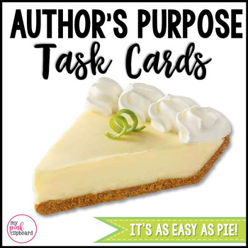 Author's Purpose Task Cards - CCSS and TEKS Aligned - Grades 2-4