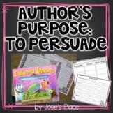 Author's Purpose - To Persuade with I Wanna Iguana