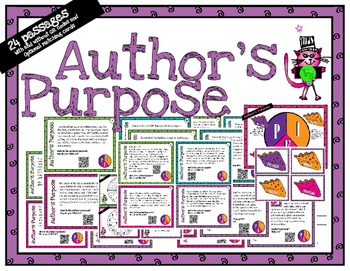 Author's Purpose - task cards for scoot or review with or