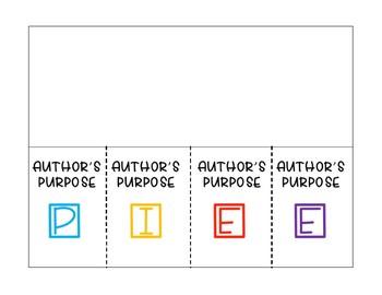 Author's Purpose Foldable PIEE