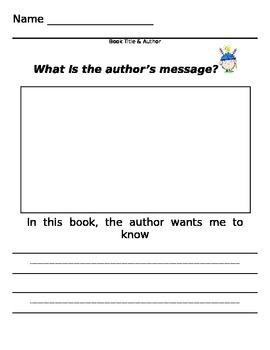 Author's Message student response