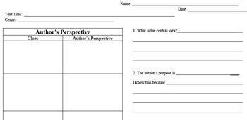 Author's Perspective - Author's Purpose, Theme, & Central Idea