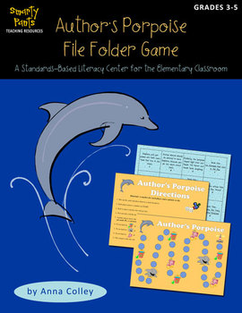 "Author's ""Porpoise"" File Folder Game (author's purpose center)"