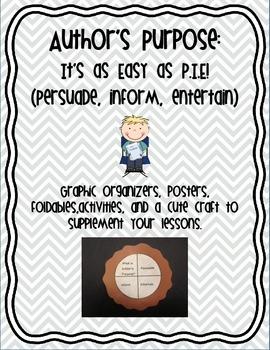 Author's Purpose Bundle (activities & a craft)