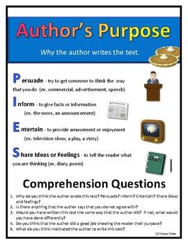 Author's Purpose Graphic Organizer - Universal