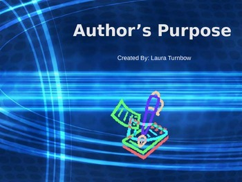 Author's Purpose Introduction PowerPoint
