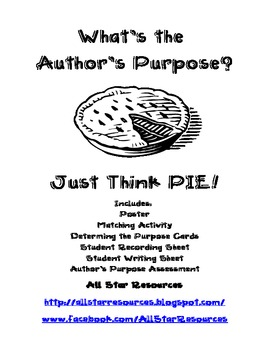 Author's Purpose--Just Think Pie!