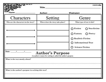 Author's Purpose Mini-lesson