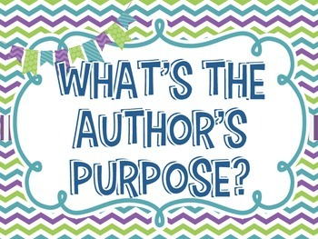 Author's Purpose Posters - Colorful & Informational!